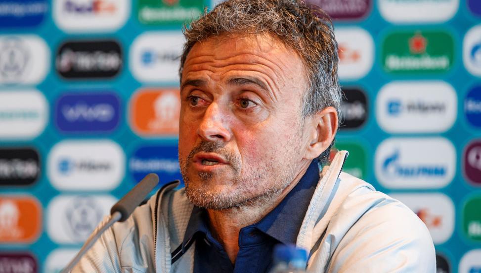 Luís Enrique en rueda de prensa. / Imagen: Pablo García-EFE