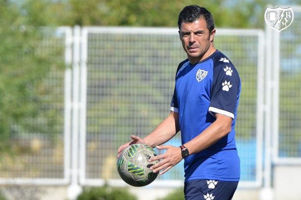 Luis Cembranos durante un entrenamiento | Fotografía: Rayo Vallecano S.A.D.