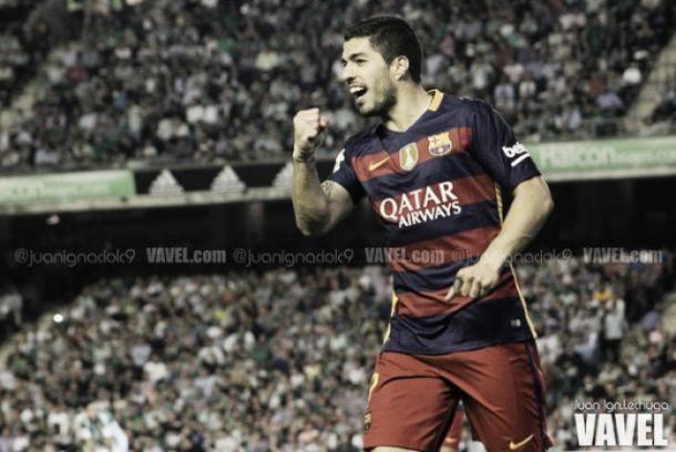 Suárez celebrando un gol en Liga I Foto: Juan Ignacio Lechuga (VAVEL)