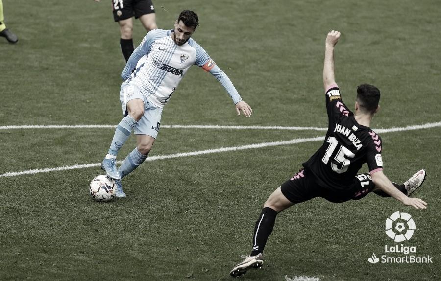 Luis Muñoz en un lance del partido. / Foto: LaLiga