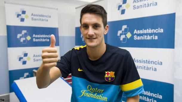 El de San José del Valle en su reconocimiento médico con el FC Barcelona. Imagen: FC Barcelona
