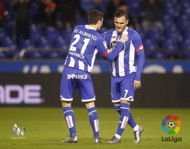 Luis Alberto junto a su inseparable Lucas Pérez. Imagen: La Liga
