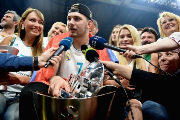 Luka Doncic tras ganar el MVP de la Final Four   Foto: Euroleague.net