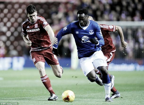 Lukaku scored the last time Boro faced Everton in the Quarter Finals of last year's Capital One Cup | Photo: BPI