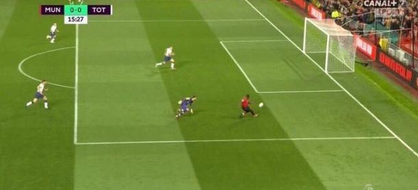 Lukaku missed this chance vs Spurs   Photo: Canal+ screengrab via Twitter