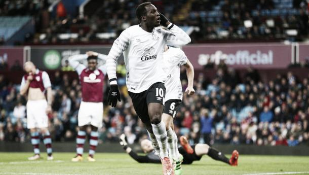 Romelu Lukaku scored Everton's third and final goal against Aston Villa on Tuesday. | Image: Getty Images