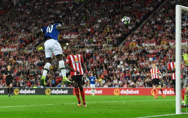 Romelu Lukaku scored his first Premier League goals since March. | Photo: Everton