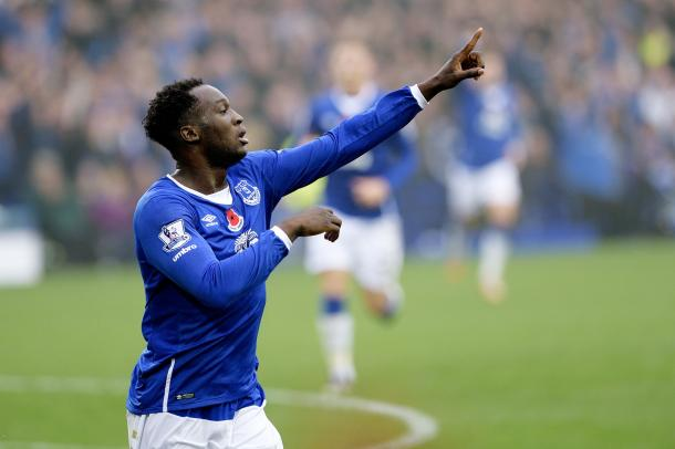 Lukaku celebrates his goal in one of Everton's few wins against Sunderland | Photo:Getty