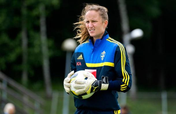 Sofia Lundgren, who has 30 caps for Sweden, produced a brilliant performance on her full debut for Rosengard (Source: Aftonbladet)