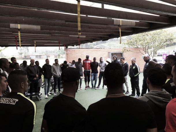 Minuto de silencio del club Atlético Nacional | Foto: Atlético Nacional
