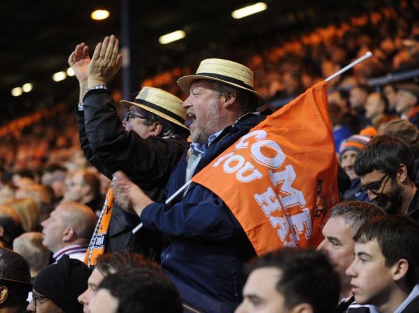 Aficionados del Luton durante un partido | Foto: Luton Town