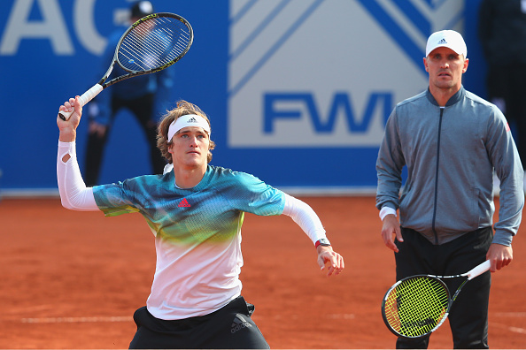Alexander Zverev and Mischa Zverev in action at the Munich Open (Photo: Alexander Hassenstein/Getty Images)