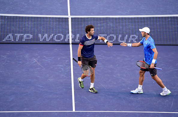 Jean-Julien Rojer and Horia Tecau during Indian Wells (Photo: Harry How/Getty Images)