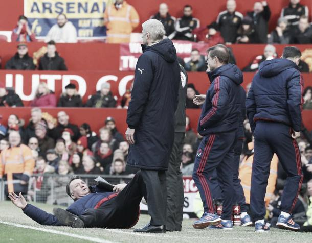 Van Gaal believed Alexis Sanchez dived when his team faced Arsenal in February | Photo: Man United/ Getty