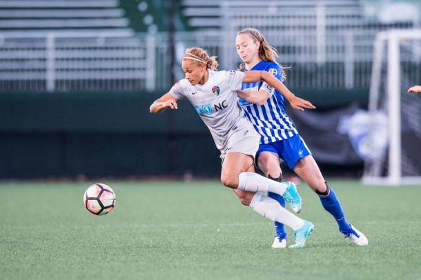 Lynn Williams in action for the Courage. Source: North Carolina Courage