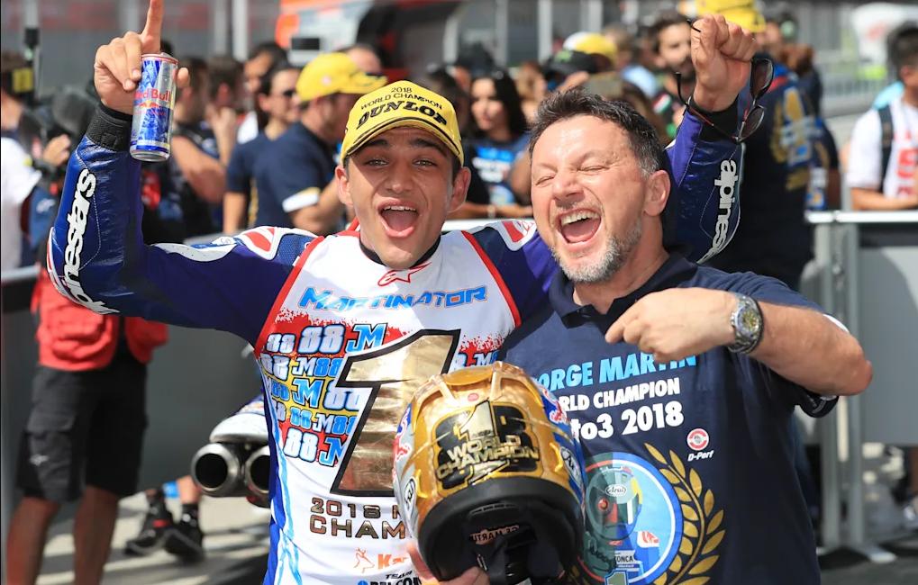Jorge Martín, campeón del mundo de Moto3   Foto: redbull.com