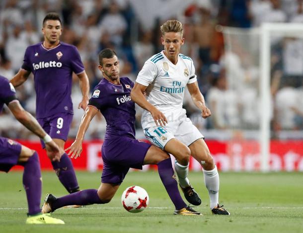 Llorente disputando con el Madrid el Trofeo Santiago Bernabéu | Fuente: realmadrid.com