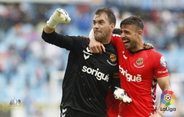 Lanzarote chutó el penalti por encima de larguero defendido por Reina | Foto: LaLiga