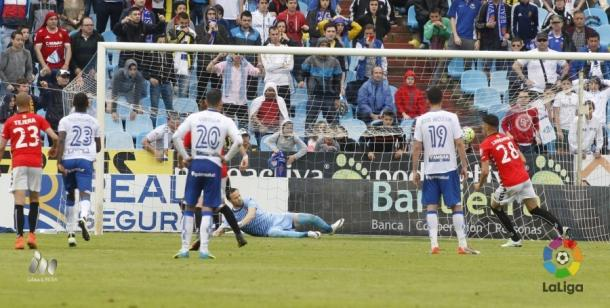 Naranjo marcó de penalti el único gol | Foto: LaLiga