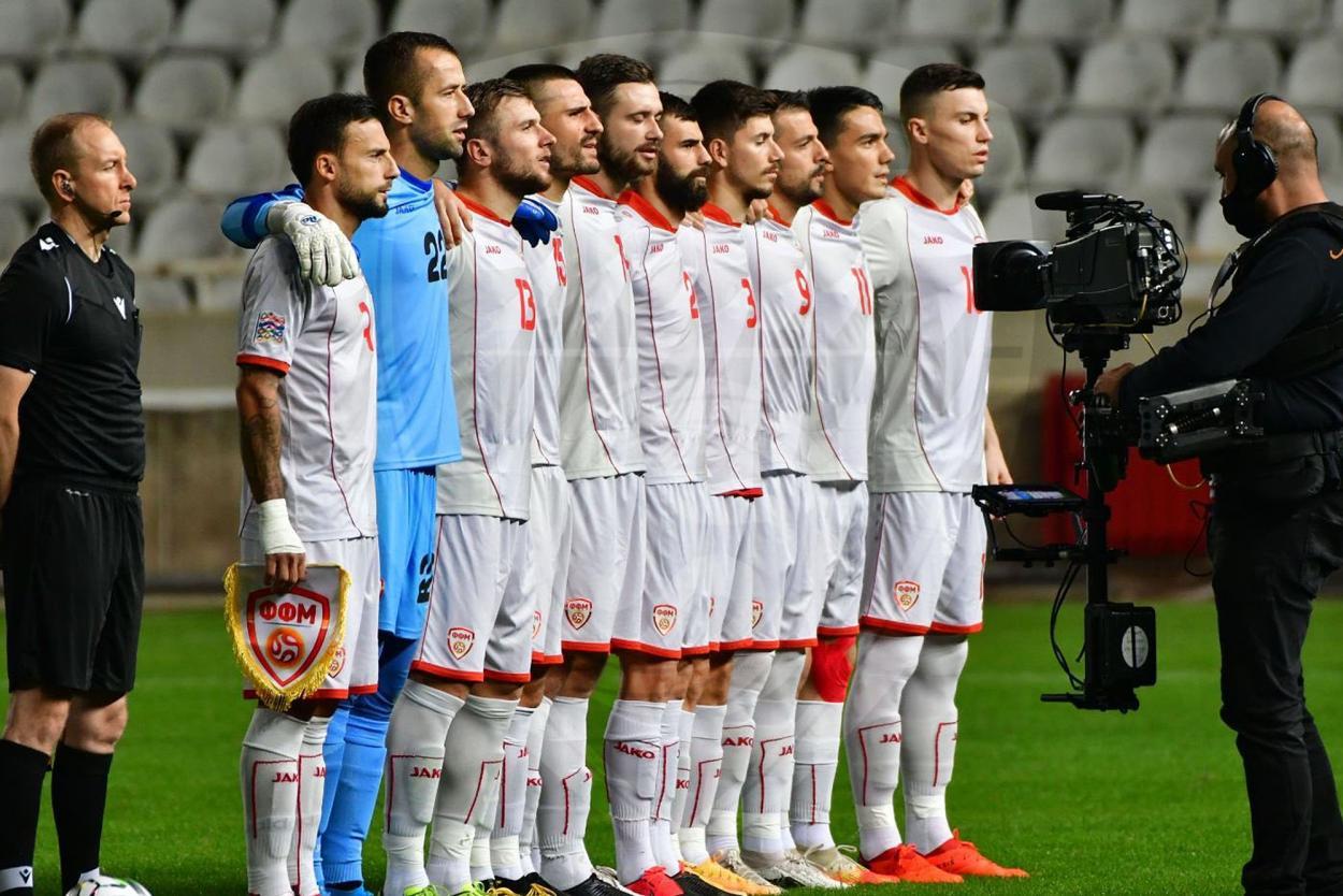 Los 11 macedonios del último encuentro / FOTO: @ffmmkd
