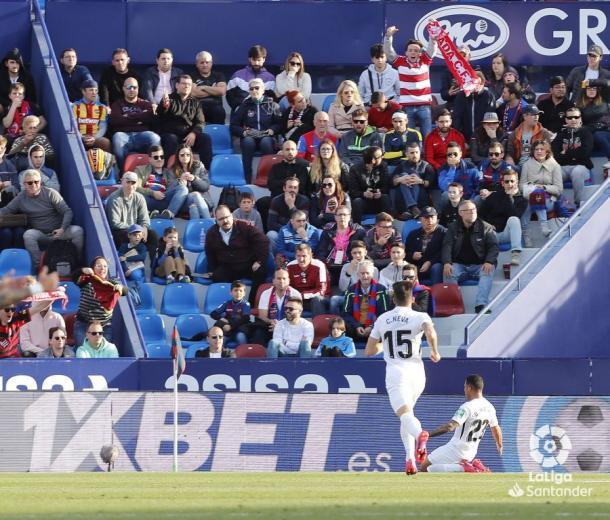 Celebración del gol de Machís | Foto: La Liga