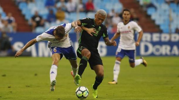 Machís en el partido en La Romareda | Foto: La Liga