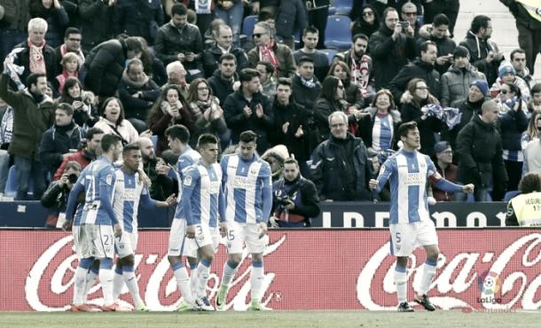 Machís no celebró su gol con el Leganés al Granada | Foto: La Liga
