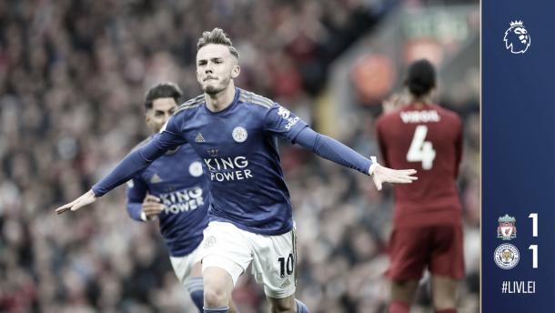 Maddison pone picante al partido./ Foto: Leicester City
