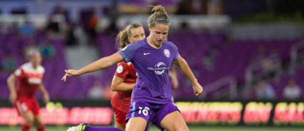Orlando Pride midfielder, Maddy Evans, played her last match for the Pride against Sky Blue l Source: Orlandocitysc.com