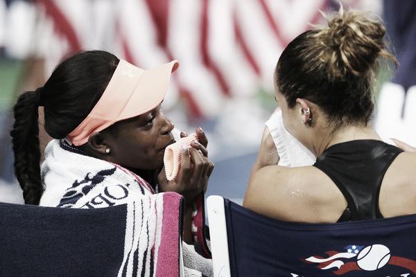 Sloane y Madison tras la final del US Open. Imagen: Zimbio