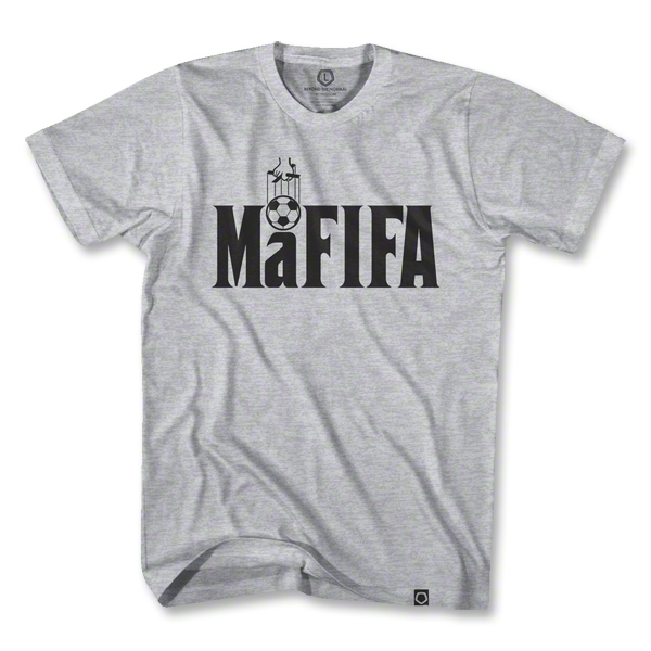 FIFA's corruption has led to this shirt being sported around the world. (Photo credit: World Soccer Shop(