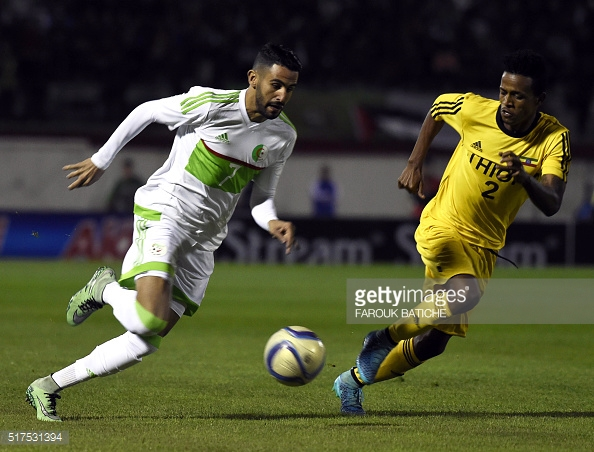 Mahrez scored a brilliant brace to earn a point for Algeria | Photo: Getty/ Farouk Batiche