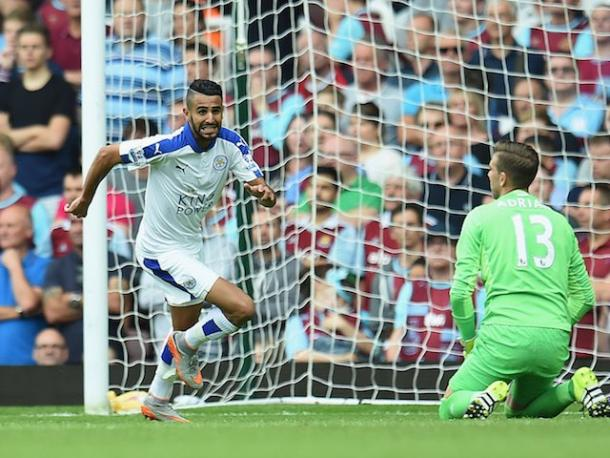 Riyad Mahrez celebrates his winner at Upton Park the last time these two met in the league | Photo: Getty