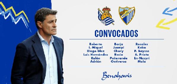Lista de convocados del Málaga: | Foto: Málaga CF