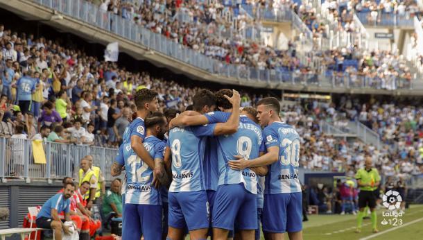 Celebración de un gol ante el Córdoba. | Foto: LaLiga