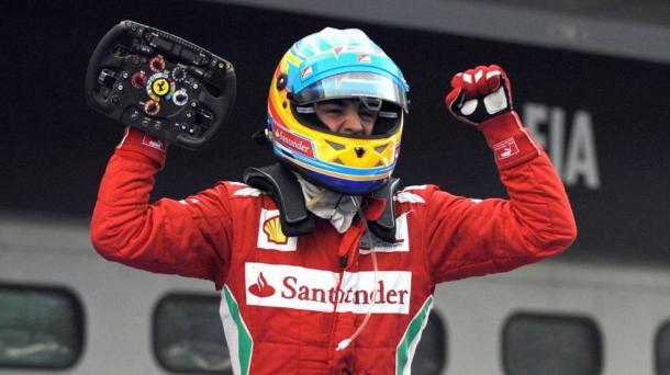 Alonso tras ganar un GP con Ferrari | Foto: Getty Images