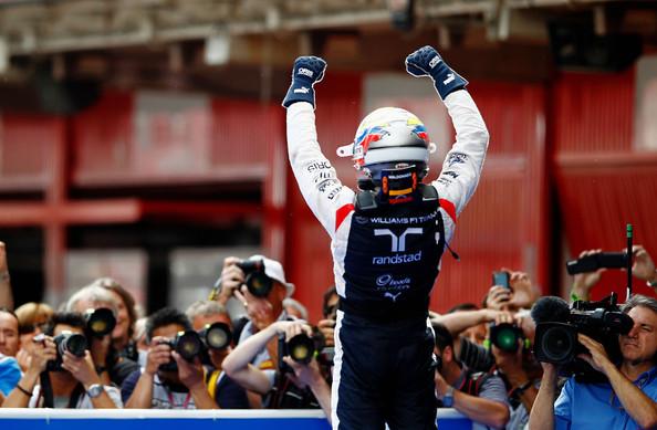 Pastor Maldonado celebrando su victoria en el GP de España en 2012 | Imagen: Getty Images