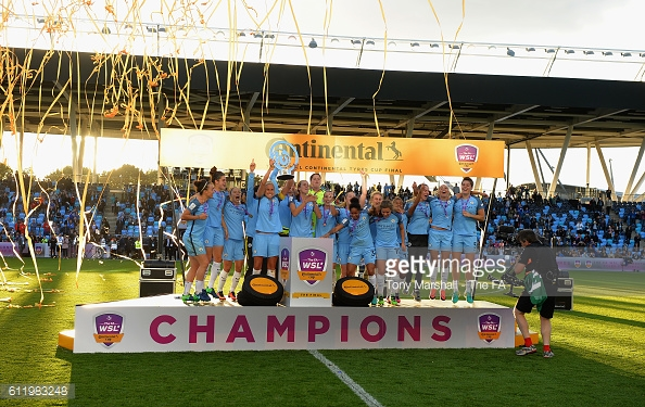 Man City have won the Continental Cup since last their last outing in the WSL | Photo: Getty