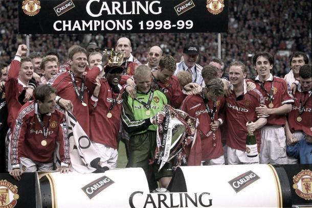 El United celebra la triple corona. Foto: Premier League