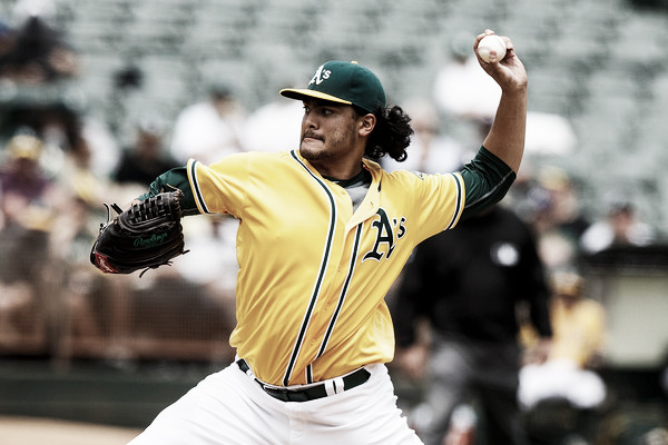 Sean Manaea will look to get back on track against a tough Red Sox offense. (Photo: Jason O. Watson/Getty Images North America)