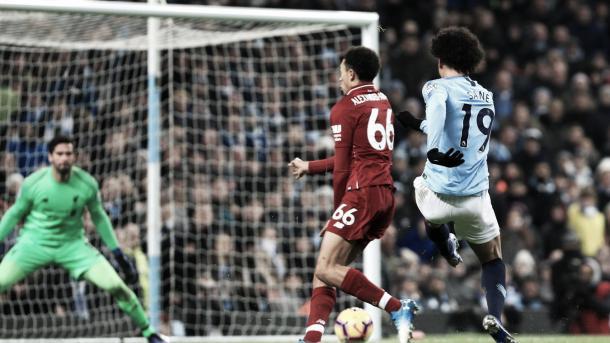 Sané le dio el triunfo al Manchester City. Foto: Premier League.