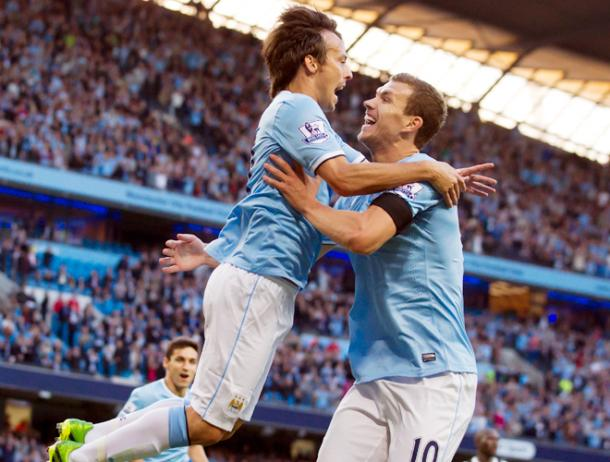 David Silva and Edin Dzeko could renew acquaintances on opposite sides (photo: Getty Images)