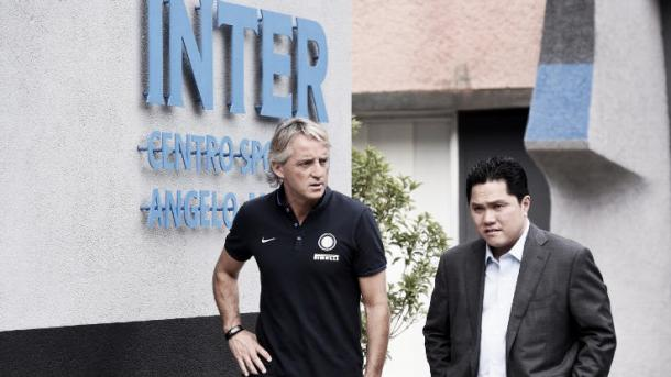 Mancini and former owner Erick Thohir | Photo: espnfc.com