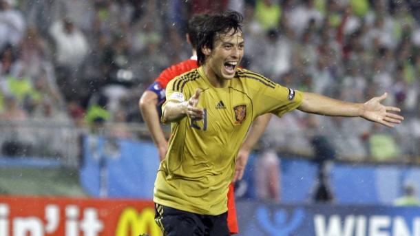 David Silva anotó en la victoria española sobre Rusia en la Euro 2008 | Foto: @ManCity