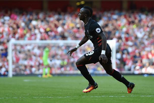 Mane scored Liverpool's fourth yesterday with a sublime finish