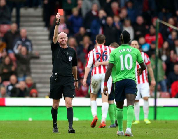 CON: Mane is no stranger to a red card (photo: Getty Images)