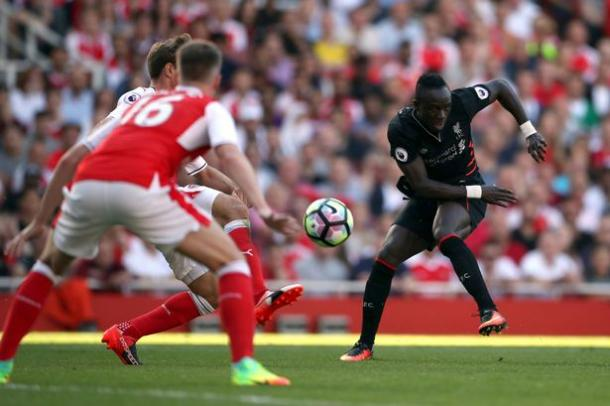 Mane capped off a memorable debut performance with an excellent solo goal. (Picture: Getty Images)