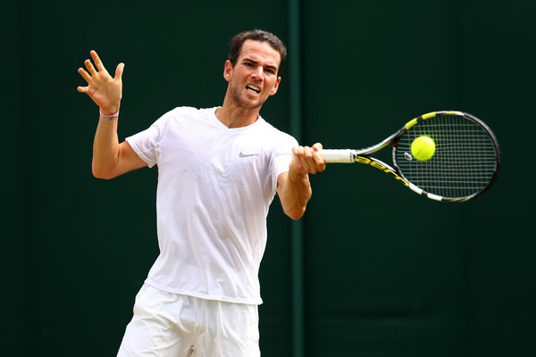 Mannarino is competing in the fourth round of a Grand Slam for the second time after doing so the first time at Wimbledon in 2013 (Photo by Michael Steele / Getty)