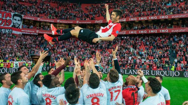 Despedida de Markel Susaeta en San Mamés | Foto: athletic-club.eus