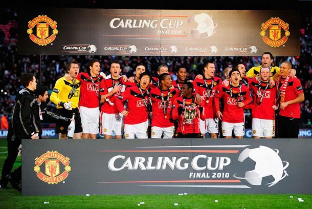 L'ultima Coppa di Lega vinta dallo United nel 2010, www.readmanutd.com